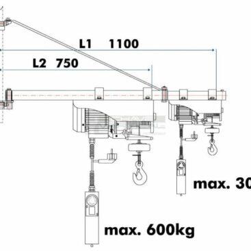 Braço rotativo p/ guinchos HOLZMANN SA3001100