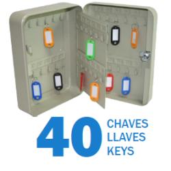 CHAVEIRO DE PAREDE - 40CHAVES MADER