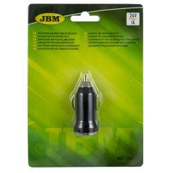 ADAPTADOR USB PARA TOMADA DE ISQUEIRO 24V 1A JBM