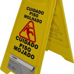 SINAL CHÃO PERIGO AMARELO 62CM MADER