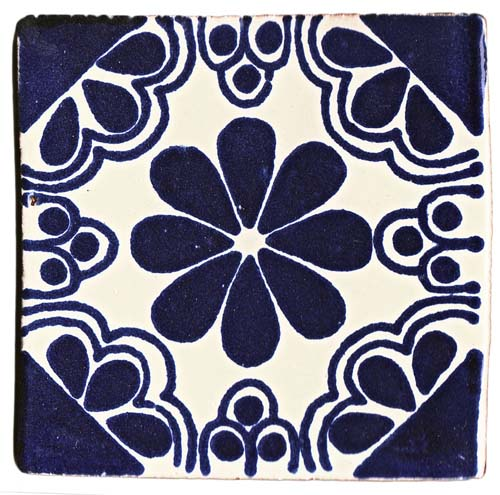 Isabel blue hand made wall tiles