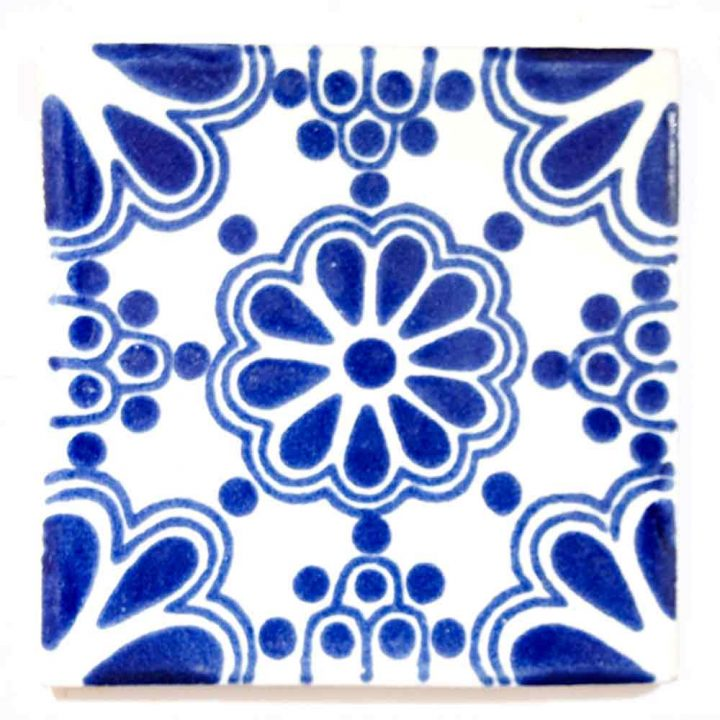 lace blue 5 x 5cm tiles