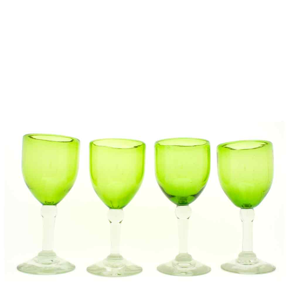 lime green wine glasses