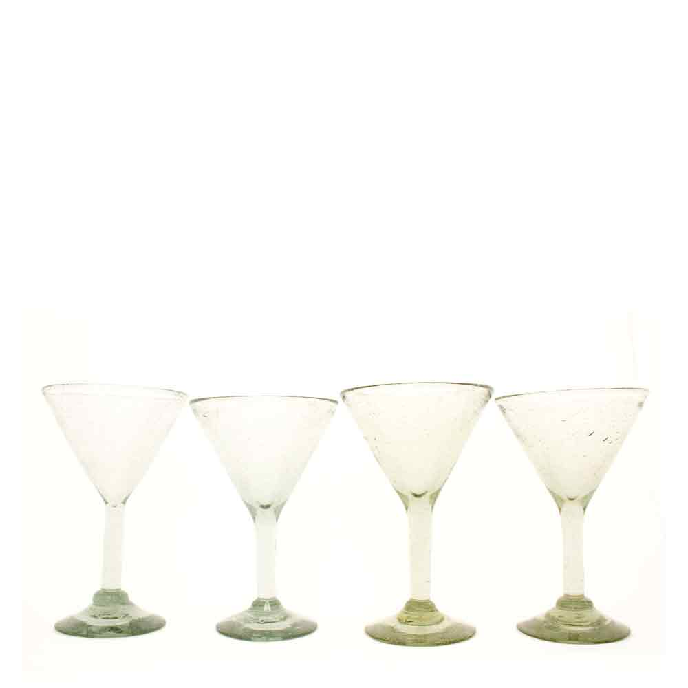 martini glasses hand made in Mexico