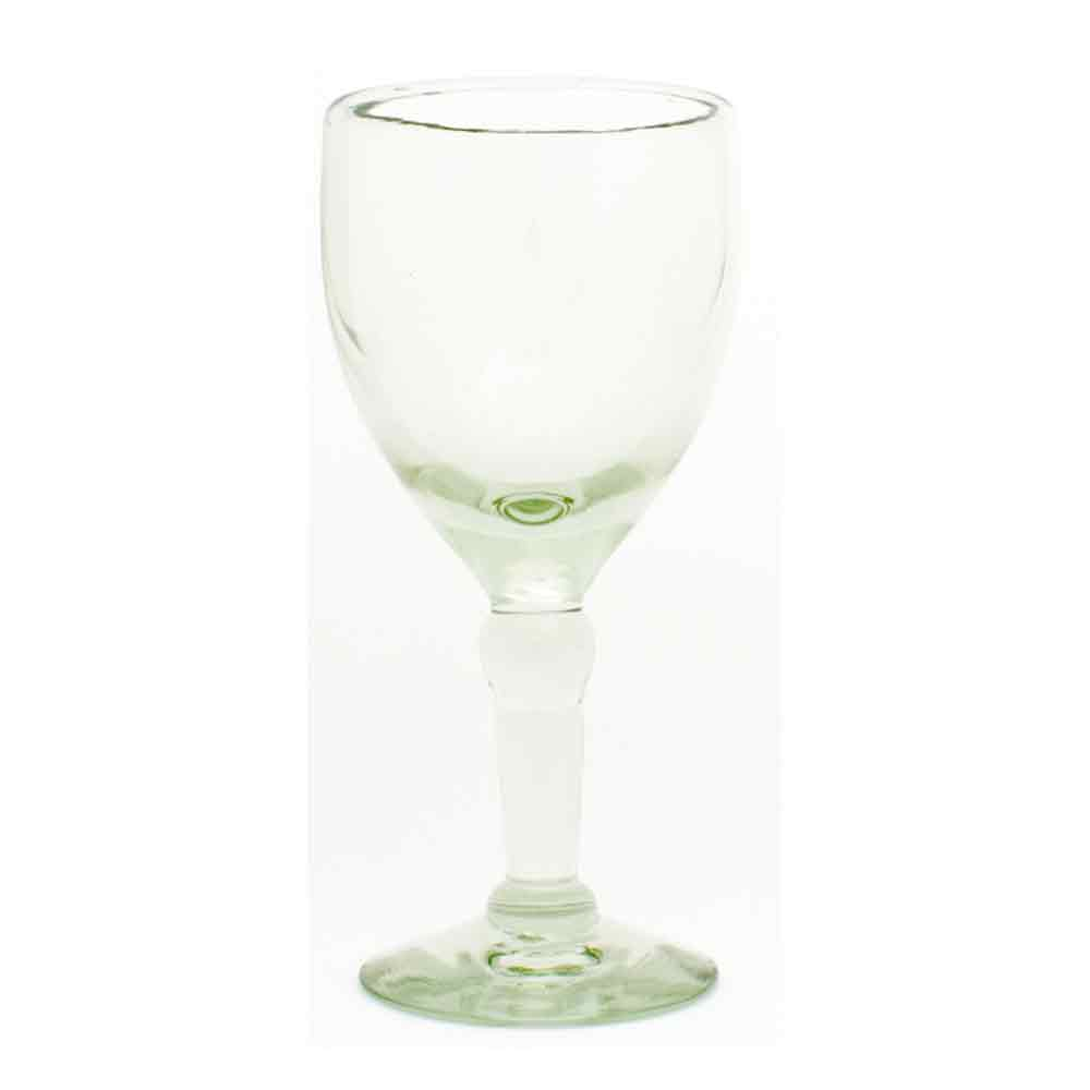 clear recycled wine glass