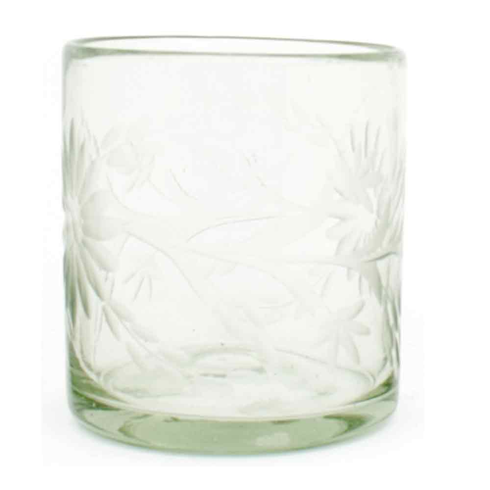 engraved, clear, roca, recycled tumblers hand made in mexico