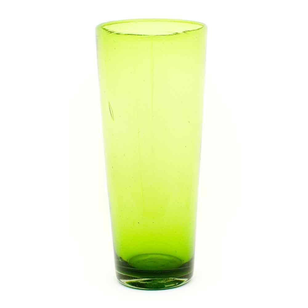 lime green flared vase