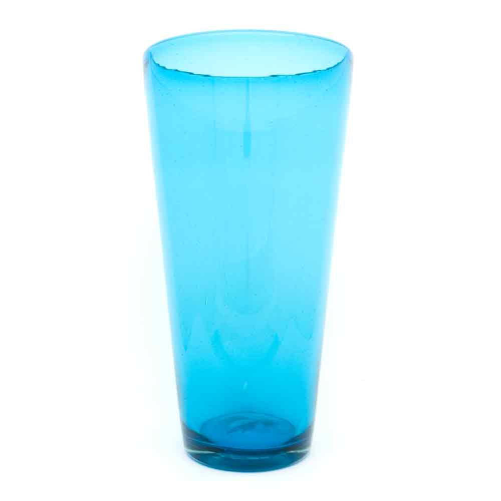 turquoise flared vase