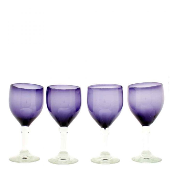 grape wineglass hand made in mexico