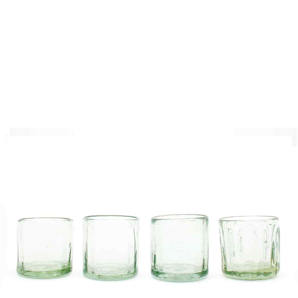 clear wahaca ribbed glassware