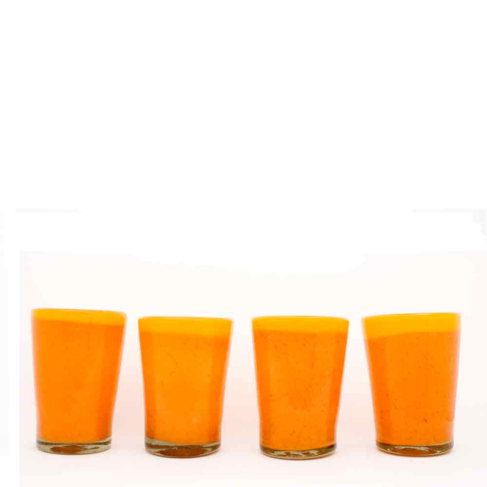 yellow and orange flared tumbler