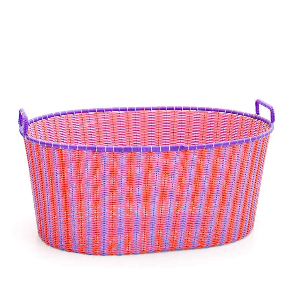 orange and lilac ironing baskets