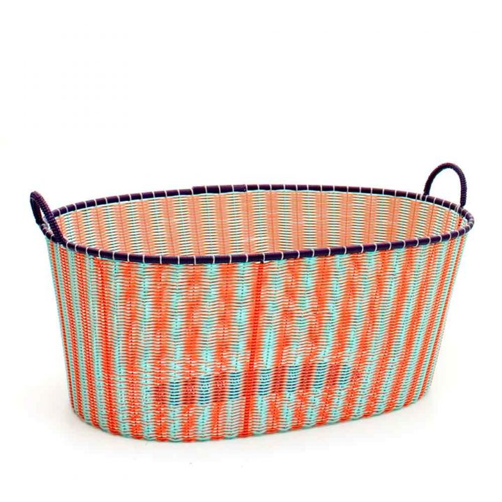 orange and pistachio ironing baskets