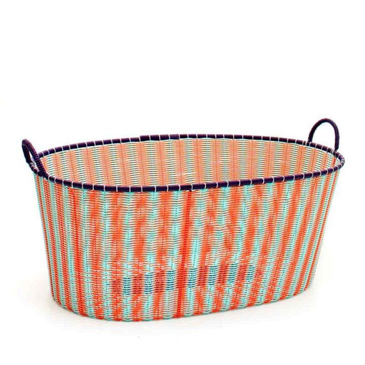 orange and pistachio ironing baskets
