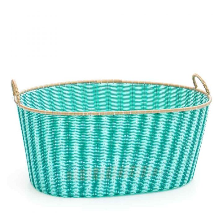 pistachio green and green ironing baskets