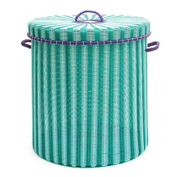 Green storage, laundry basket