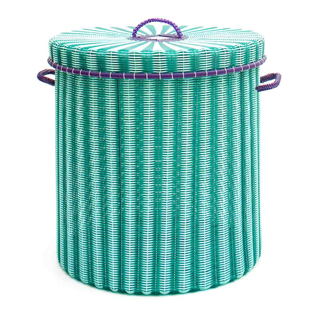 Green storage, laundry basket