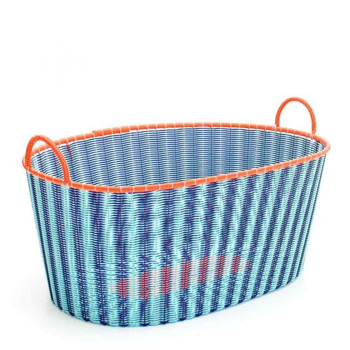 pistachio and aubergine ironing baskets