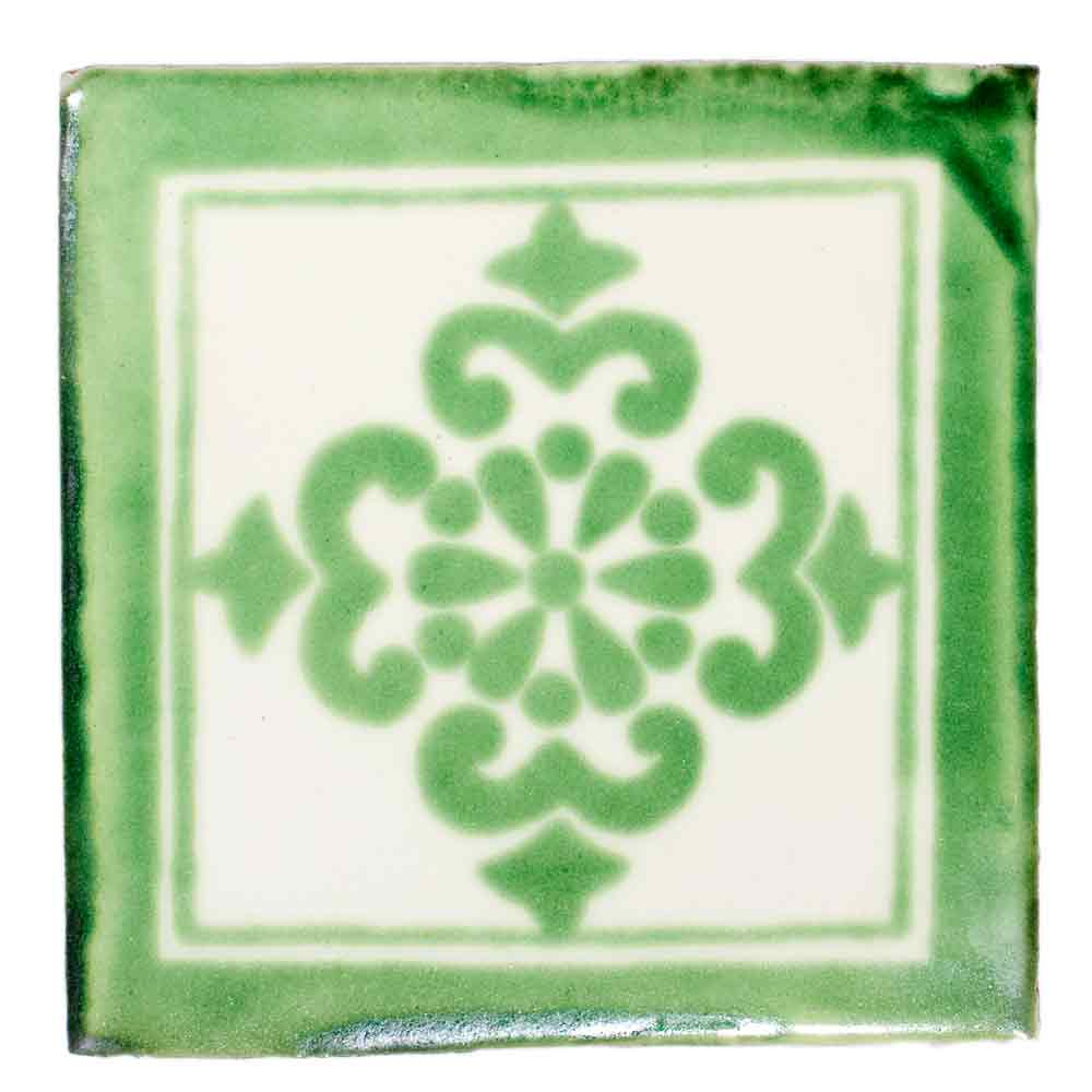 Anita green hand made tiles