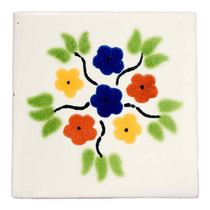 bouquet hand made tiles
