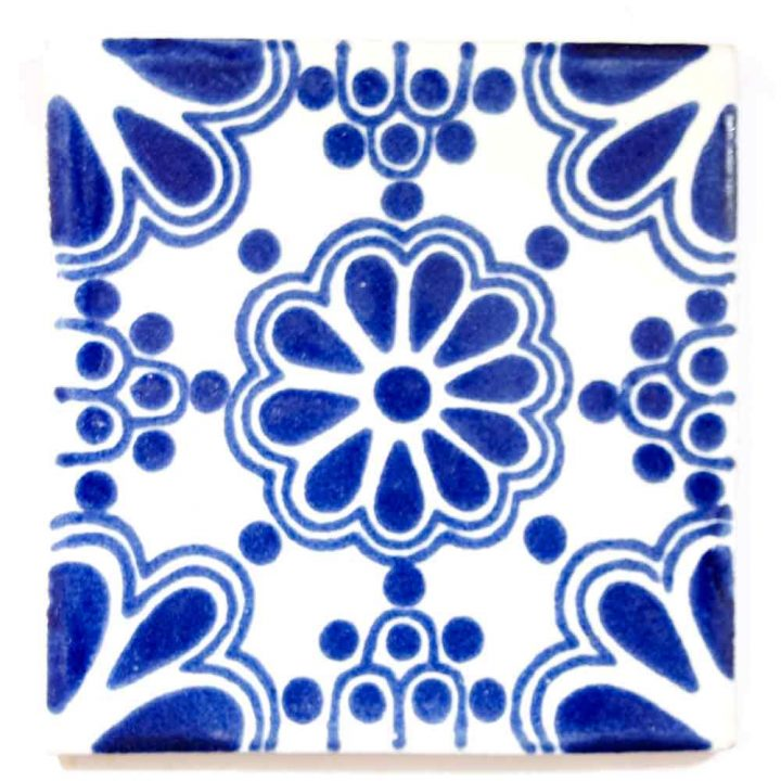 lace blue hand made mexican tiles.