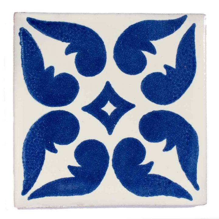lyon blue hand made mexican tiles