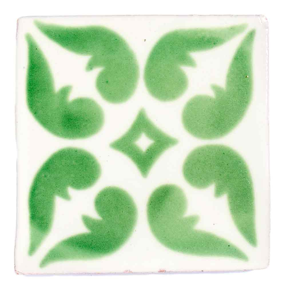 lyon green hand made mexican tiles