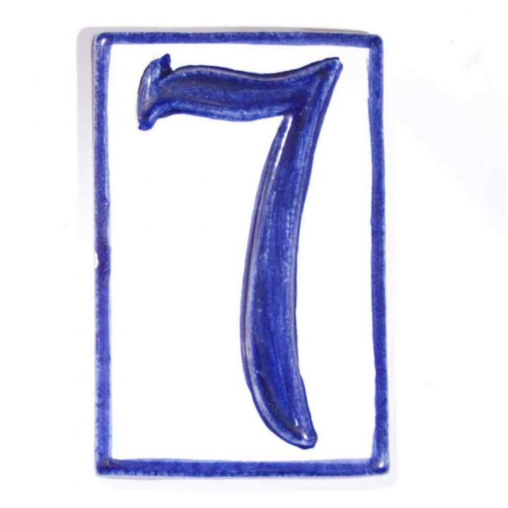 number seven hand made house tiles
