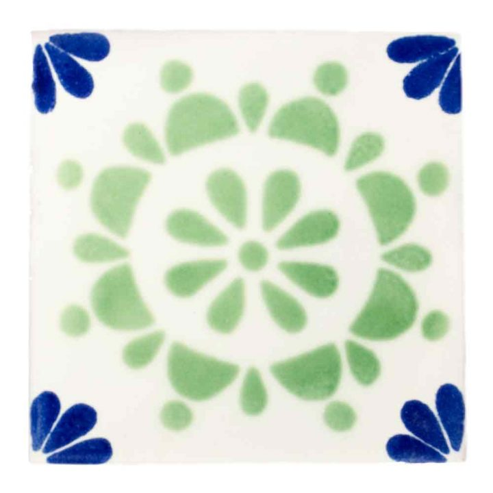 rocio blue and green hand made tiles.