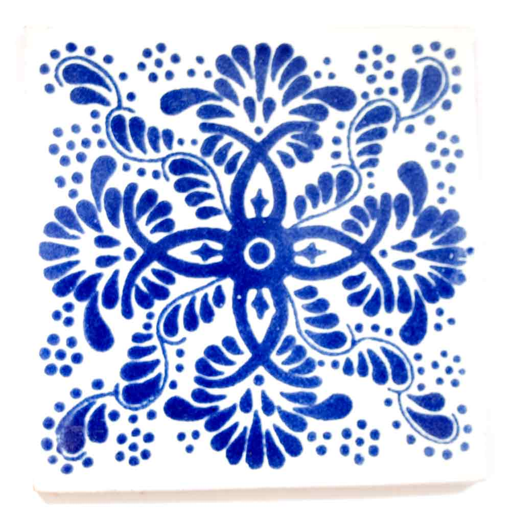 Veronica blue hand made tiles.