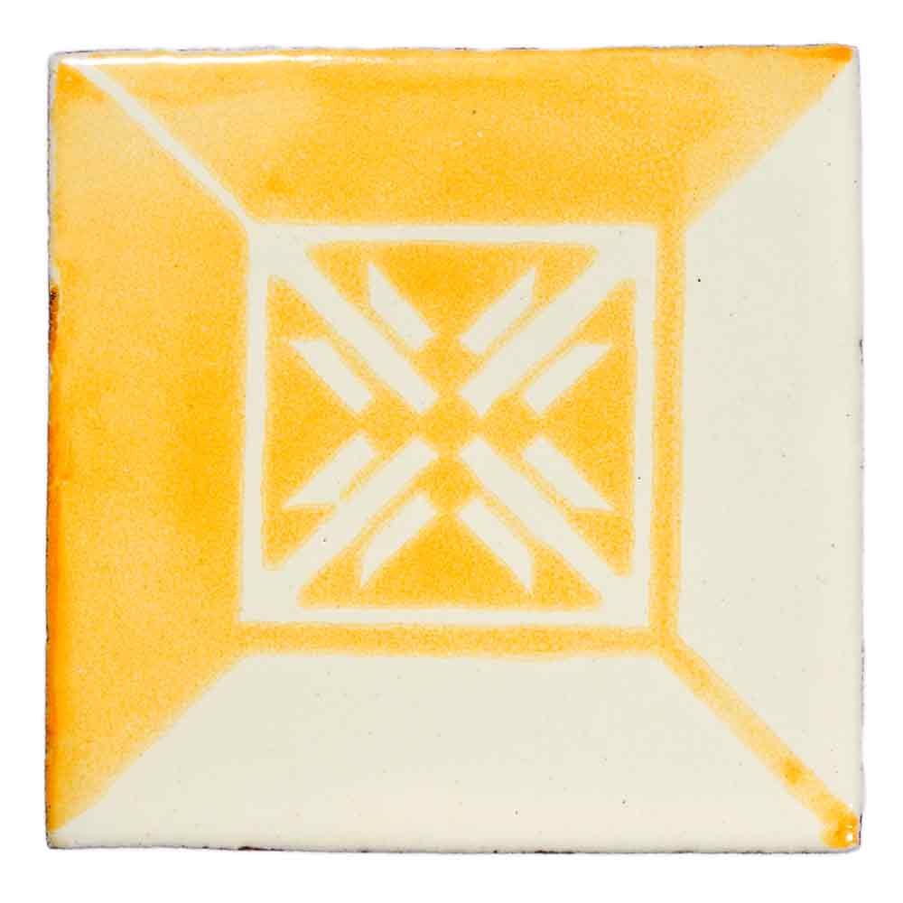 wahaca mustard yellow hand made tiles.