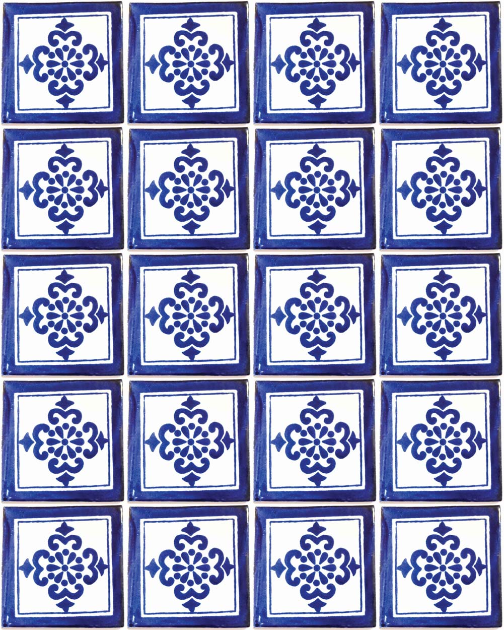 Anita blue hand made decorative wall tiles