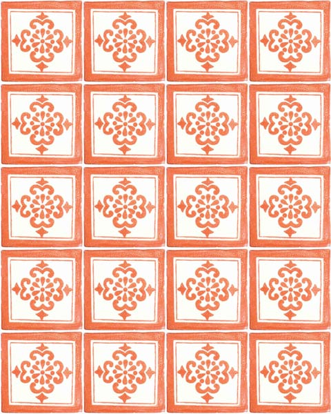 anita terracotta hand made wall tiles