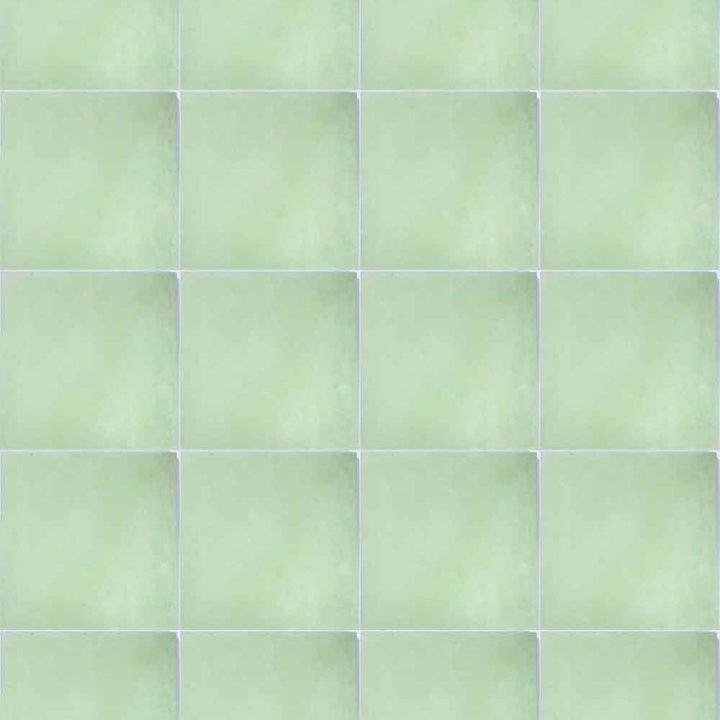 green hand made encasutic floor tiles