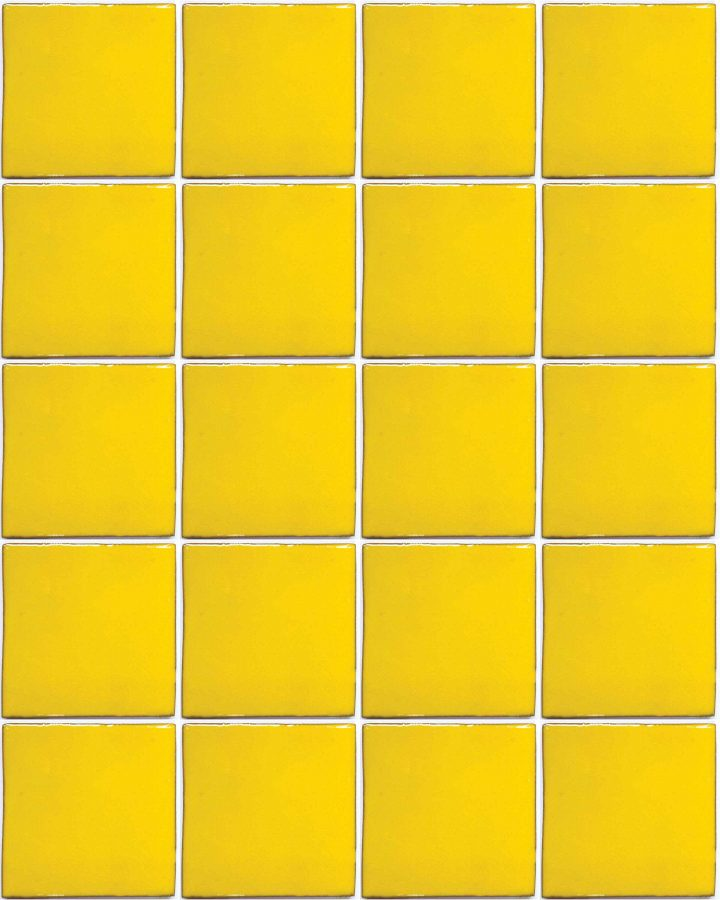 intense yellow hand made wall tiles