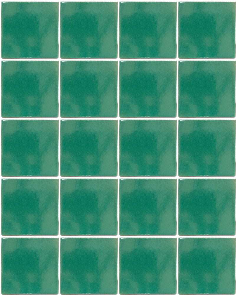 mexican green hand made wall tiles