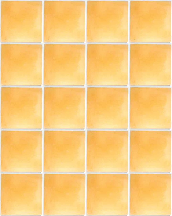 mustard encaustic hand made floor tiles