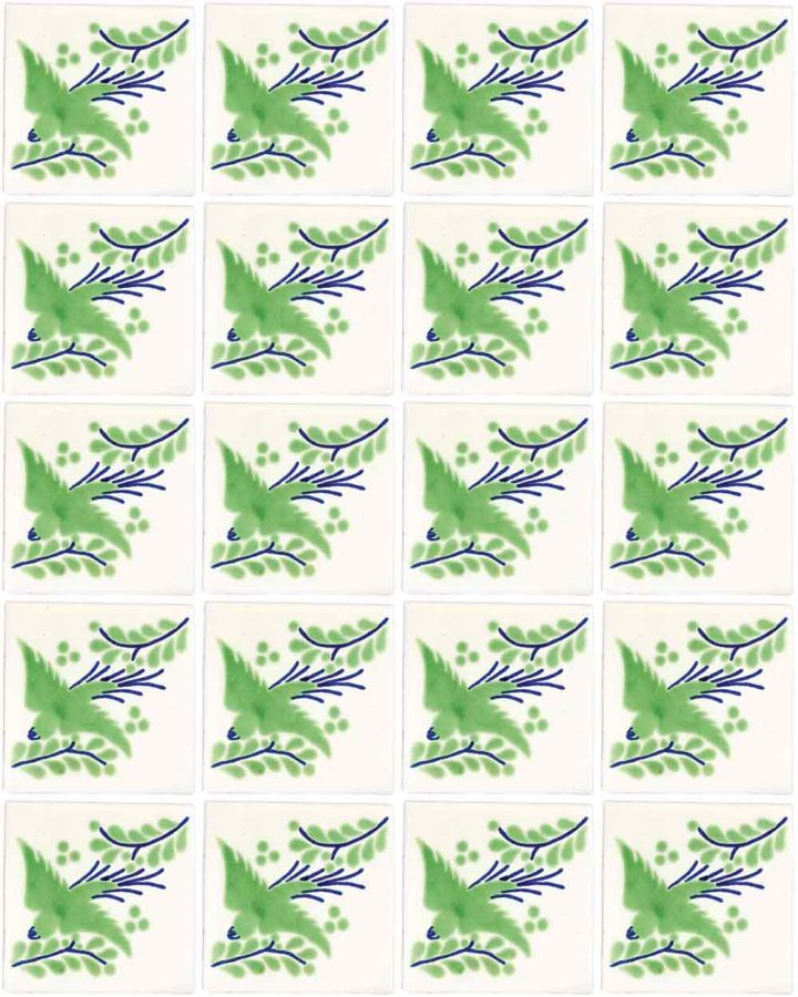 paloma green hand made wall tiles.