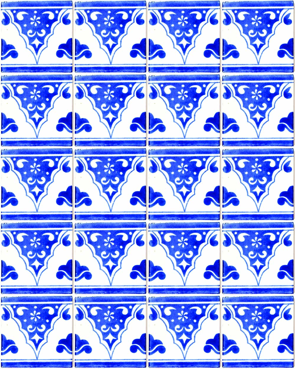 sierra azul hand made wall tiles