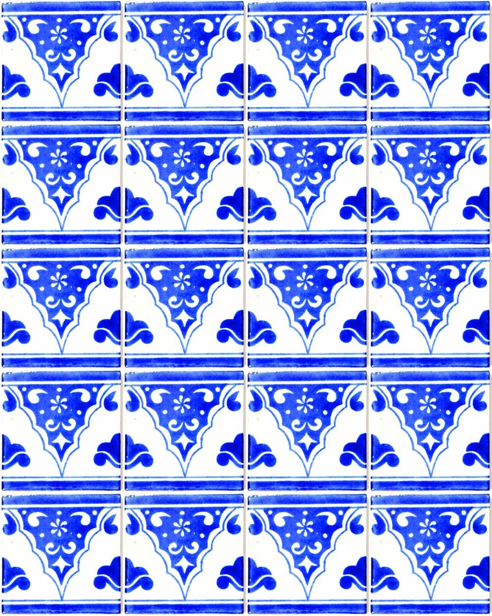 sierra azul hand made wall tiles