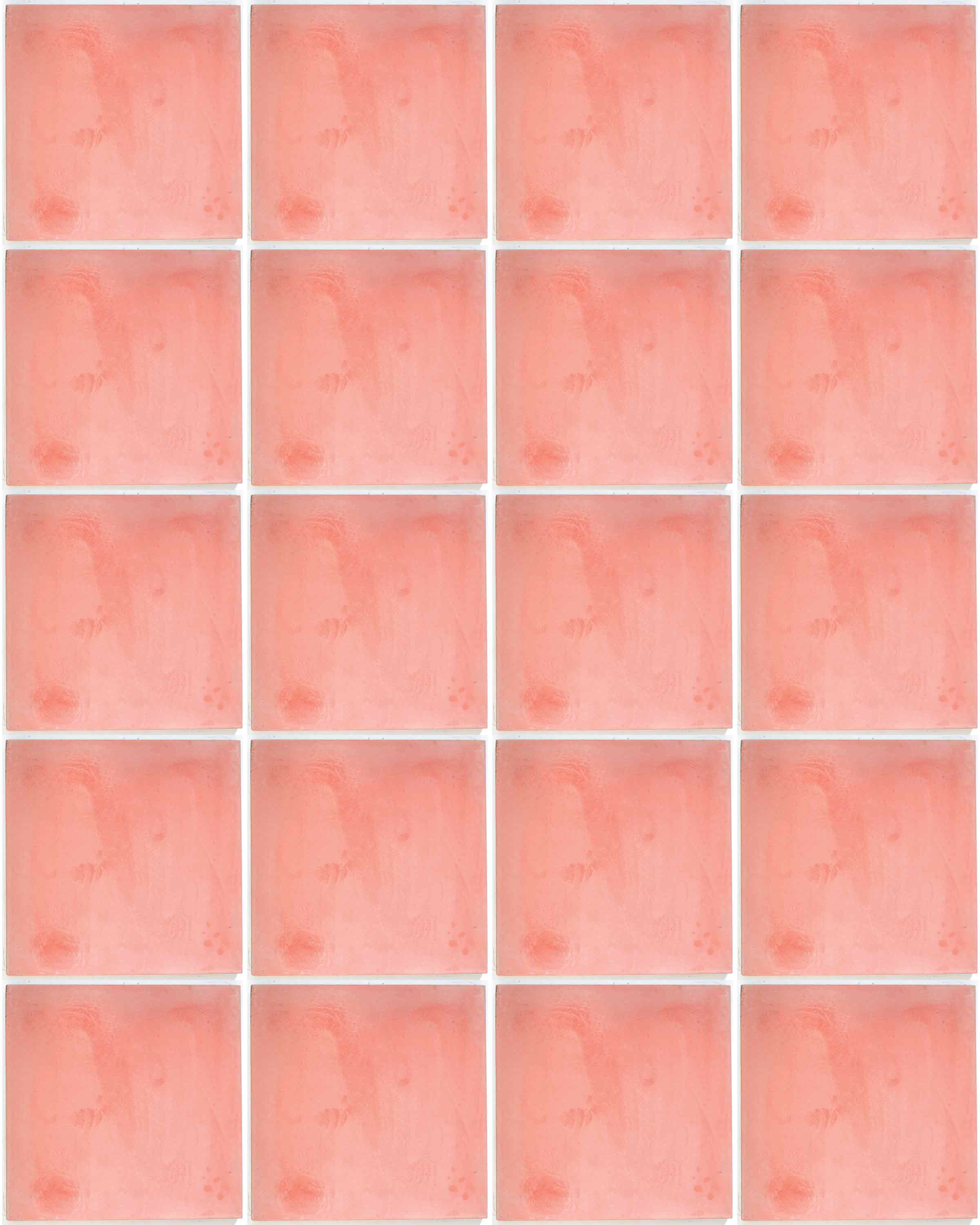 pink hand made encaustic floor tiles