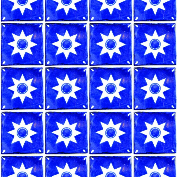 star hand made wall tiles.