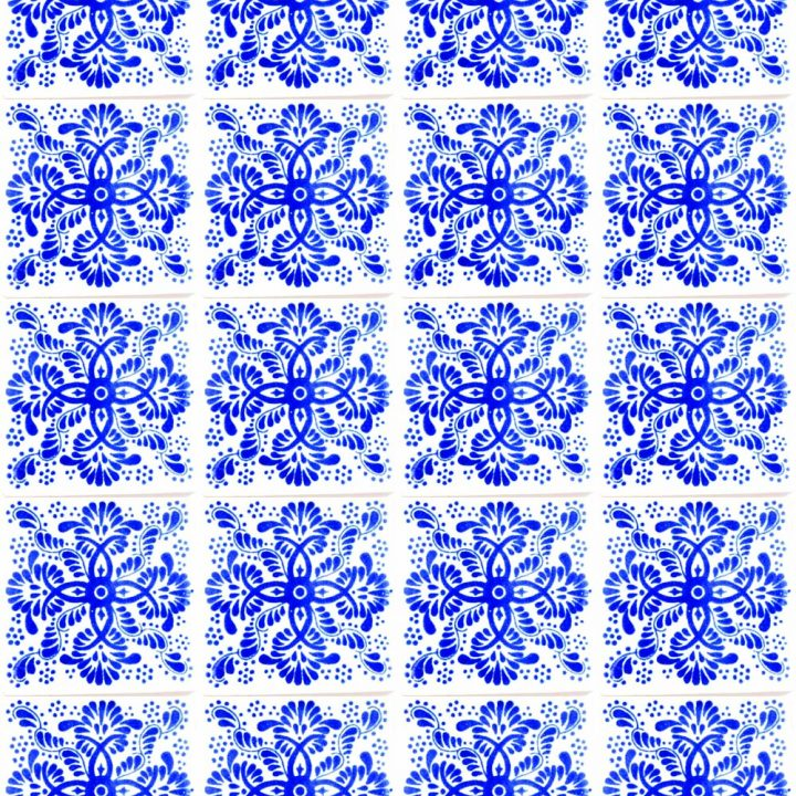 Veronica blue hand made wall tiles.