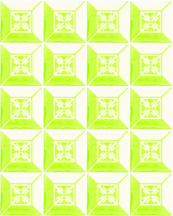 wahaca lime green hand made wall tiles