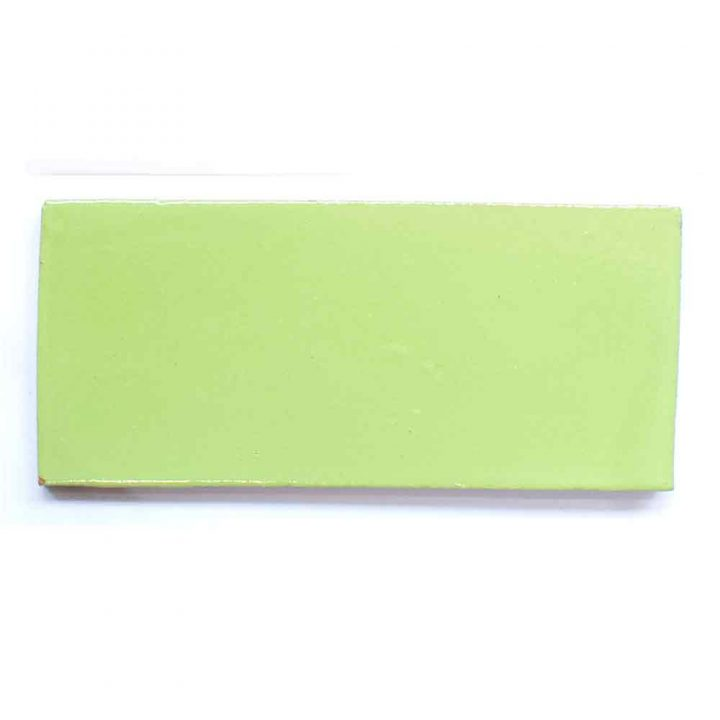 lime green hand made wall tiles.