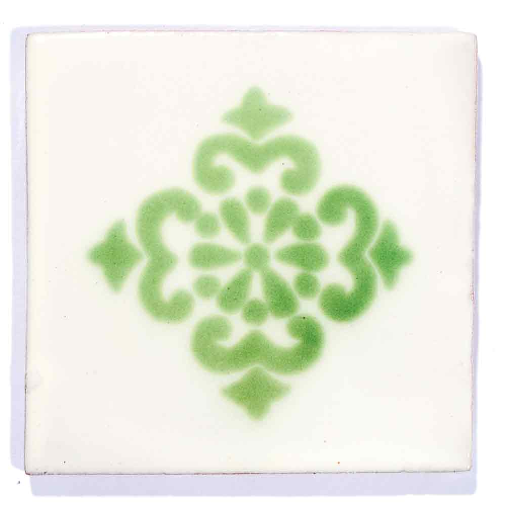 anita green sin marco hand made wall tile.