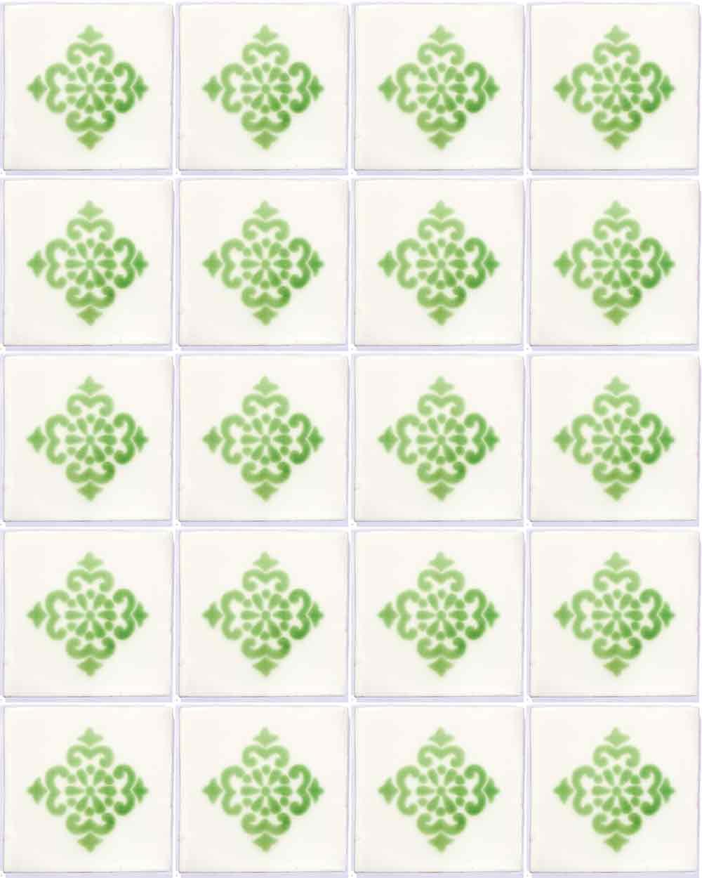 anita green sin marco hand made wall tile.