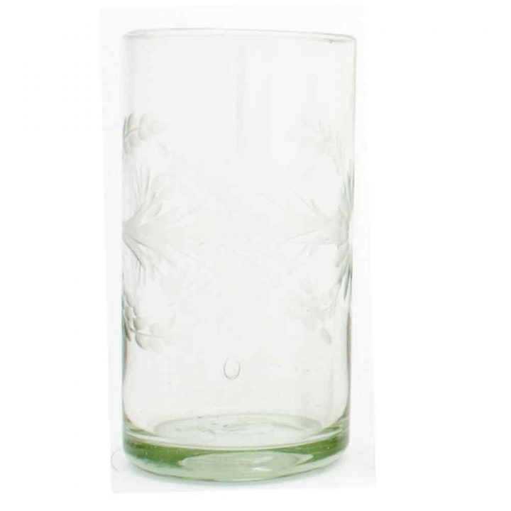 engraved clear highball tumbler.