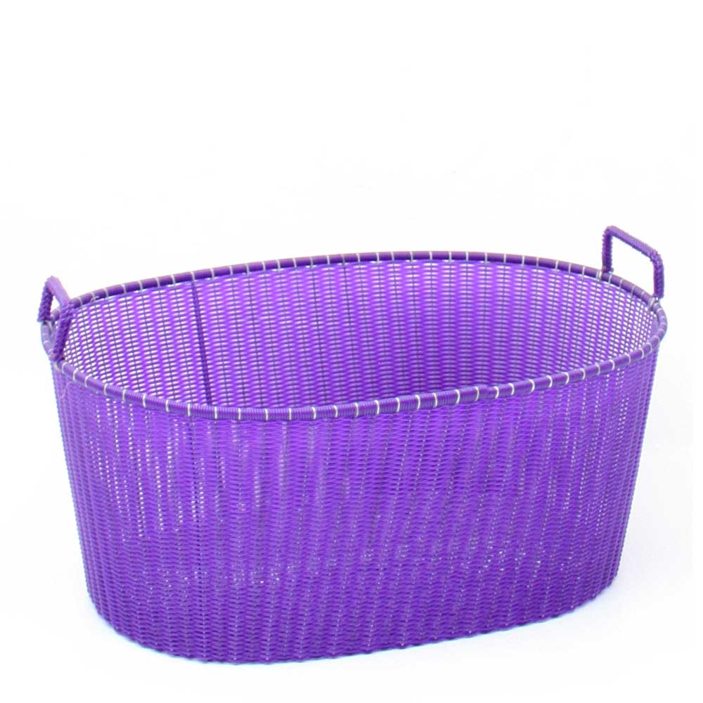 purple ironing basket hand made in Mexico
