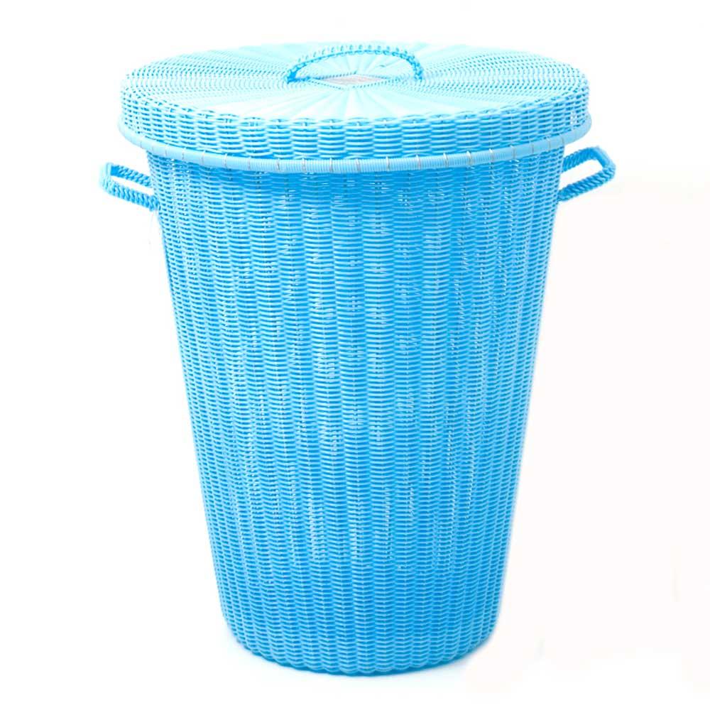 sky blue laundry basket